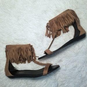 Altar'd State Fringe Sandals 9